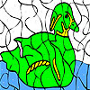 Alone goose coloring