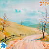 Autumnal Road Jigsaw Puzzle