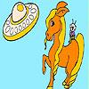 Space cowboy coloring
